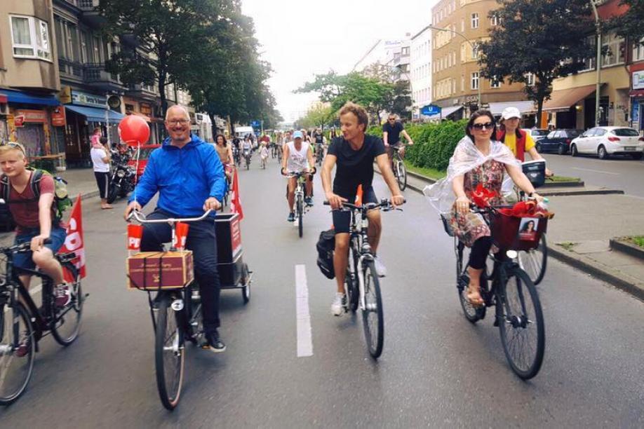 Fahrradsternfahrt 2016 Astrid Hollmann Jan Stöß SPD