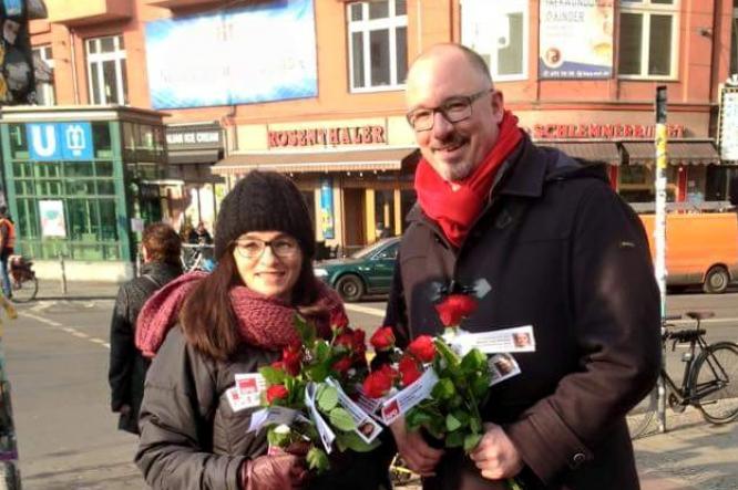 Die KandidatInnen für das Berliner Abgeordnetenhaus 2016: Astrid Hollmann und Jan Stöß